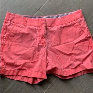 Jcrew Coral Chino Shorts